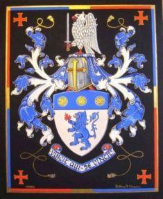 Valanti Tellios coat of arms. Gouache colors & handmade goldleaf 23K