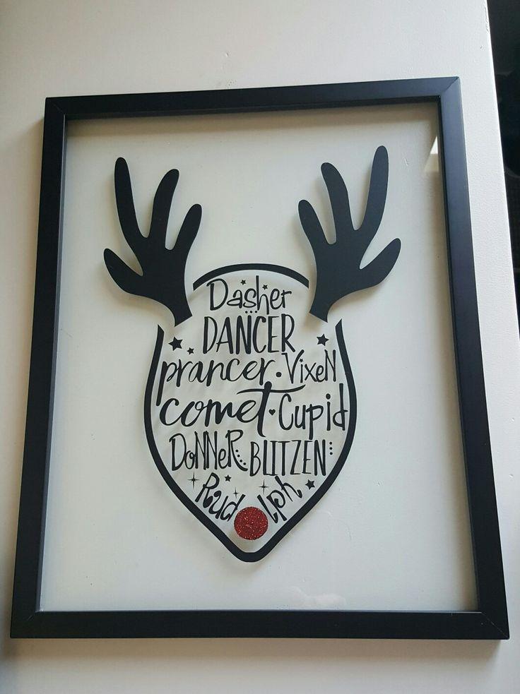 Reindeer names cricut vinyl project - love the glitter nose!