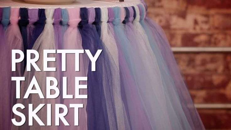 How To Make a No-Sew Tutu Table Skirt-for the cake table