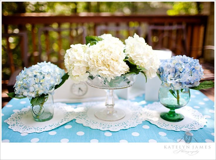 54 Best Images About Baptism On Pinterest Blue Hydrangea Centerpieces Baptism Reception And
