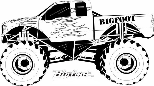 Bigfoot Monster Truck Coloring Pages Monster Truck Coloring Pages Truck Coloring Pages Monster Truck Drawing