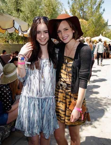 Lily Collins & Emma Watson.