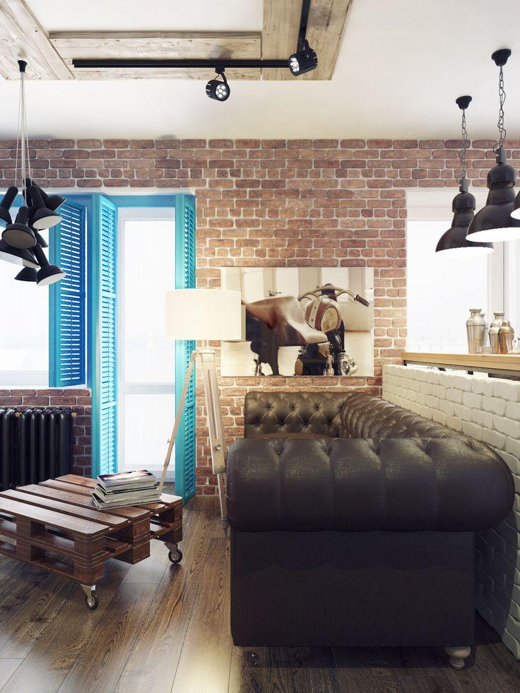 Лофт-интерьер студии 40 кв. м.