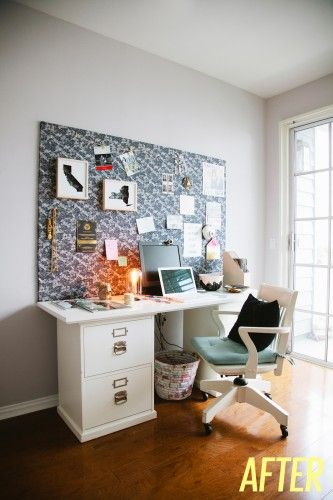 #DIY : Un grand mood board pour accessoiriser son bureau | www.decocrush.fr #moodboard