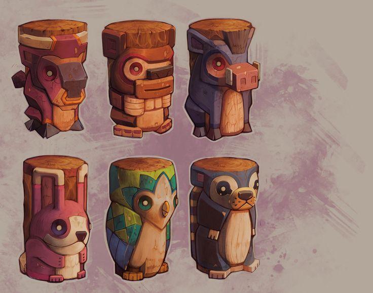 (1) totems | 캐주얼배경 | Pinterest
