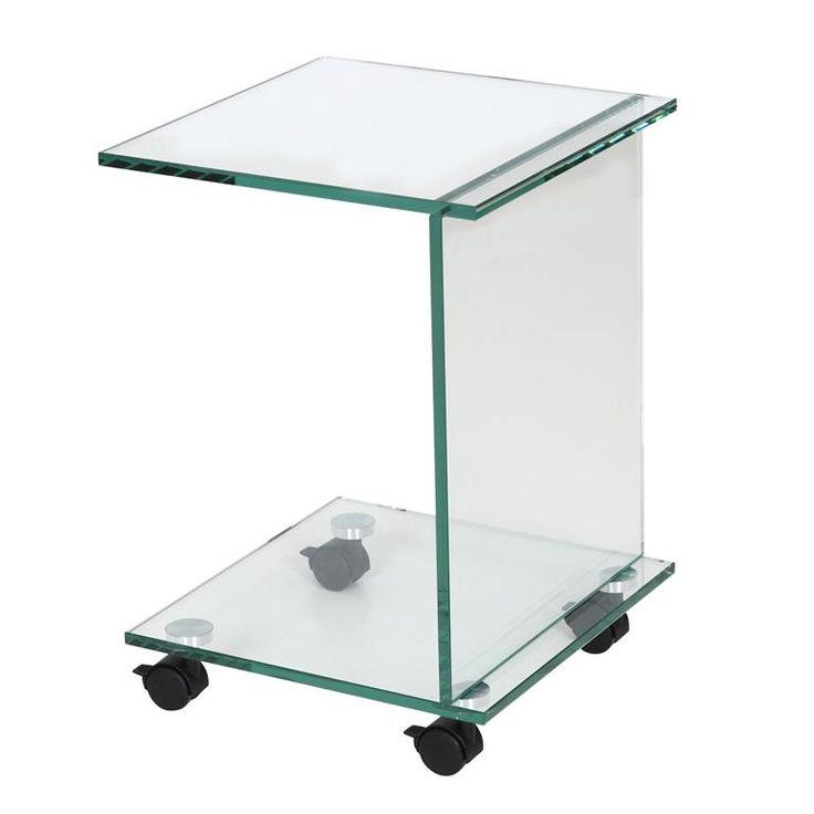 Lekker op de bank en dan je laptop op schoot, dat is niet altijd even handig. Dit 59902 Bijzettafeltje van Helderr is de perfecte uitkomst. Een stijlvol tafeltje van hoogwaardig transparant glas dat stevig in elkaar zit en bovendien verrijdbaar is.