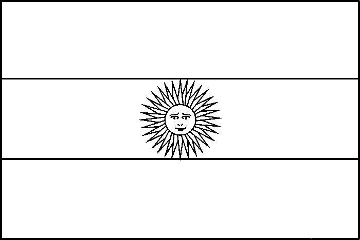 Drapreau : Drapeau de l'Argentine à colorier : 0
