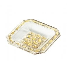 Lalique - Collection Art Deco  Anna bowl, decorated with gold