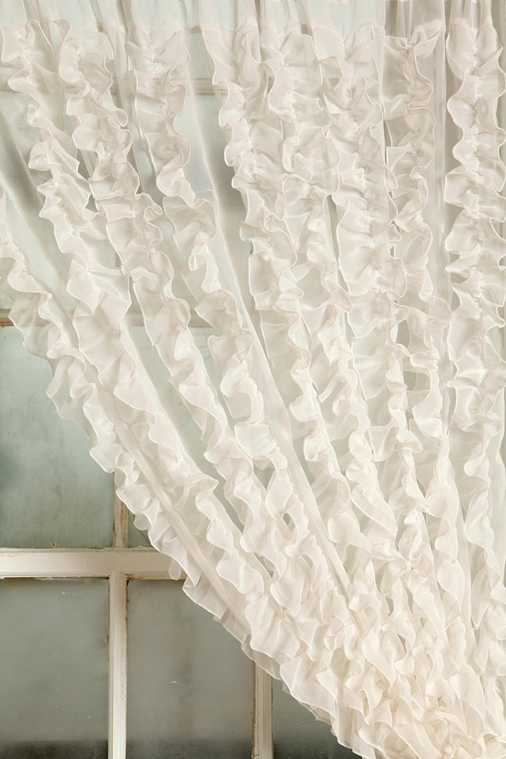 Ruffle Curtain $48.00 | cottage - chic 4 | Pinterest Ruffled Curtains