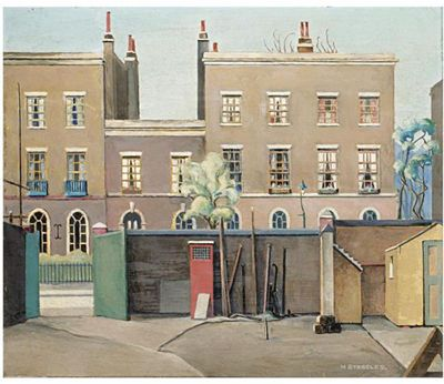 Harold Steggles, Coborn Street, Bow c.1931. A member of the East London Group of artists.