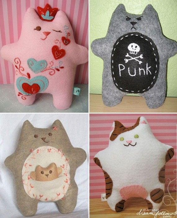 custom Fatkitty plush by Aimee Ray. I love the Punk one with his little pissed off expression!!