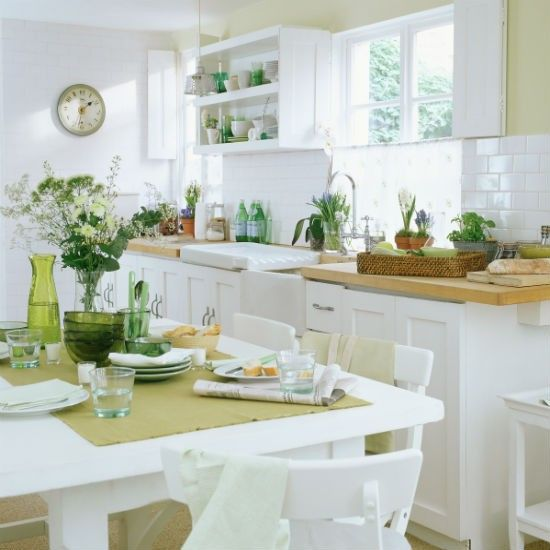 Country Kitchen Look: Design, Green Kitchen And Botanical