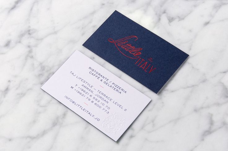 Little Italy by Here Design, United Kingdom. #branding #businesscards