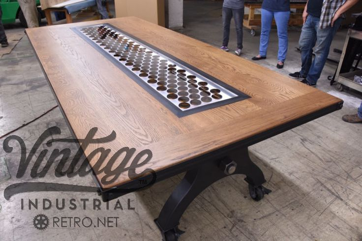 vintage and industrial furniture. Hure Conference Table With Center Insert By Vintage Industrial Furniture And T