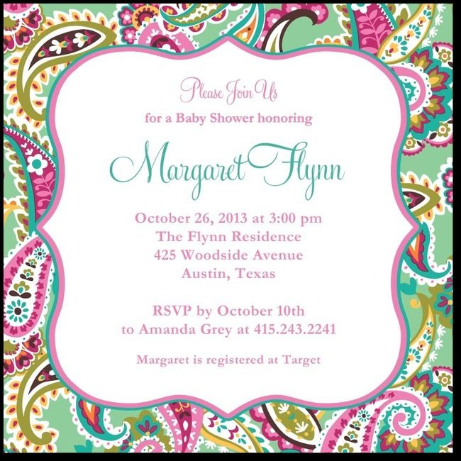 Patterned Charm:: Bay Baby Shower Invitations