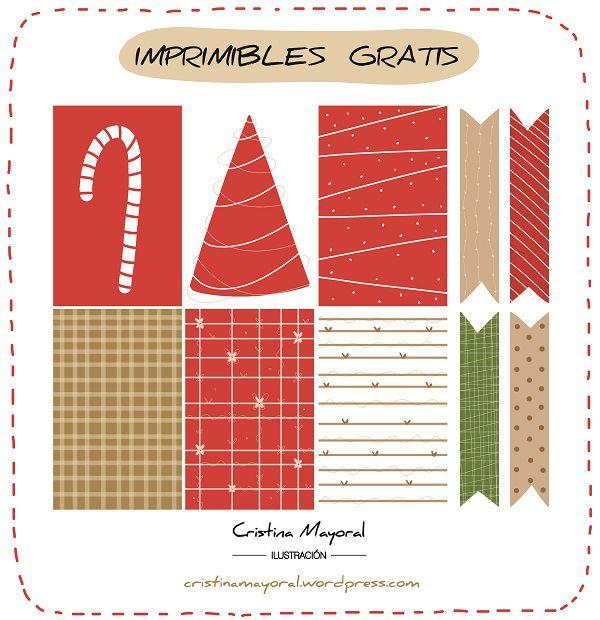 imprimibles de navidad gratis, by Cristina Mayoral Ilustracion. ilustradora, draw, agenda, filofax