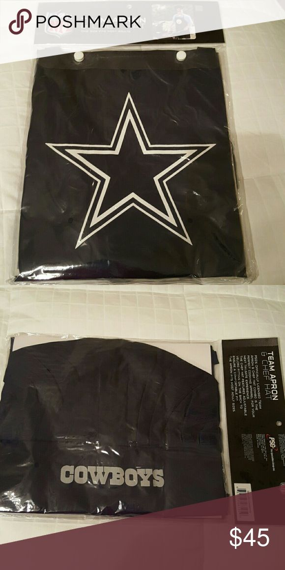 NFL New Dallas Cowboys Apron and chef hat Authentic, new Dallas Cowboys Apron and chef hat. NFL Other