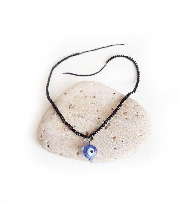 Evil eye anklet Boho beach jewelry Boho jewelry Beach by GuruMIme