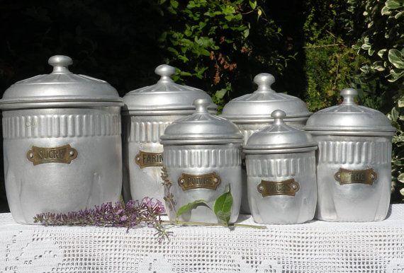 french antique/vintage aluminum kitchen storage by LaBonneVie72
