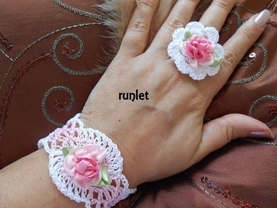 Parure de bijoux au crochet/bijoux dentelle/parure