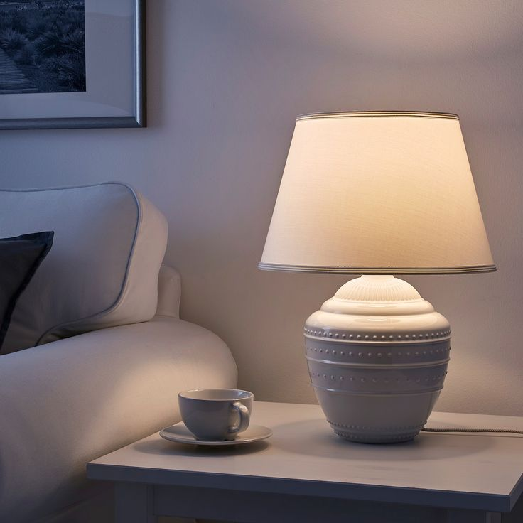 Rickarum White Table Lamp 47 Cm A Lamp That Stands Out And Is Just As Attractive Whether It Is Switched On Or Table Lamp Large Table Lamps Small Table Lamp