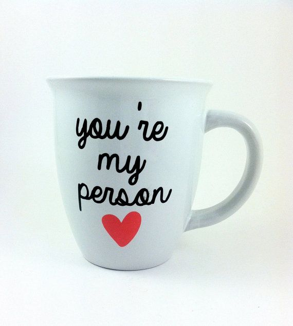 personalized coffee cup, you're my person, Grey's anatomy