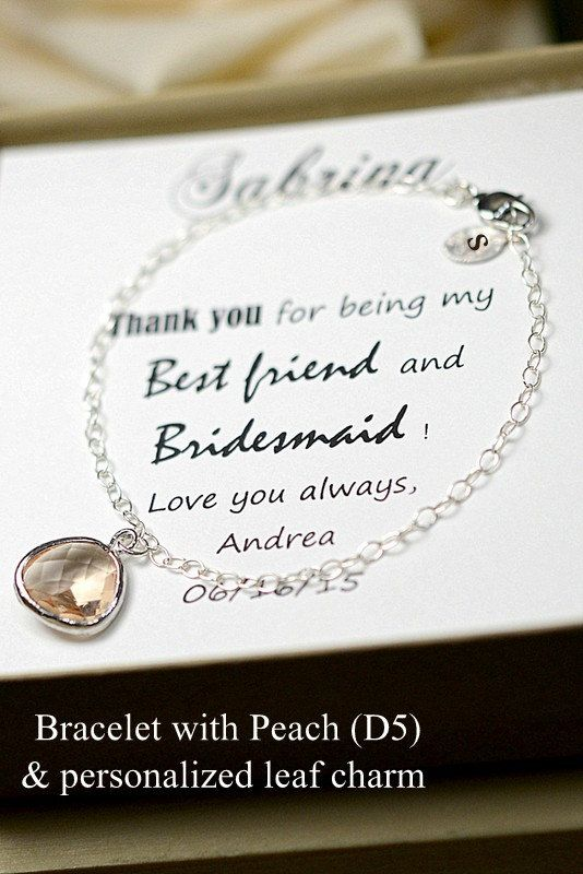 Peach bridesmaid jewelry peach champagne by thefabbridal3 on Etsy