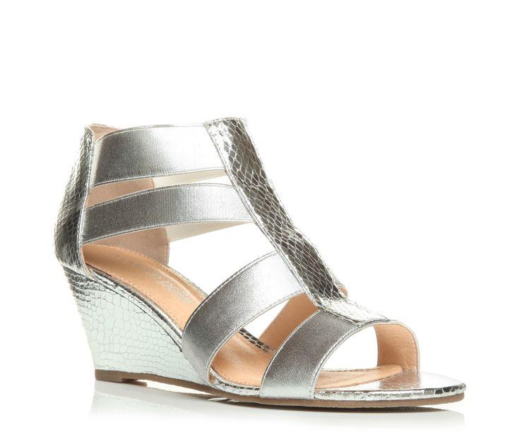 Moda in Pelle Plenty Silver Medium Smart Sandals , Moda In Pelle
