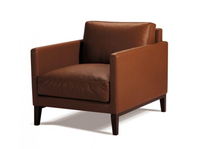 Centquatre leather armchair.