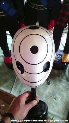 Topeng tobi dalam film naruto : jasa pembuatan topeng kayu