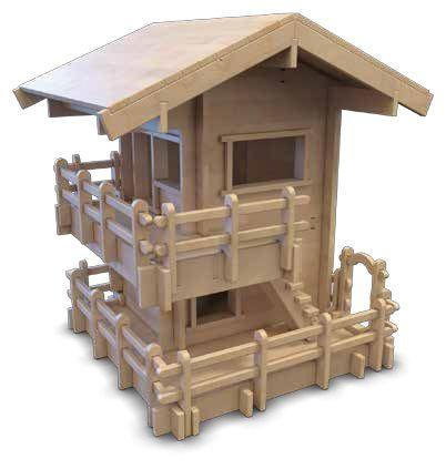 """Cidagu çok parçalı yapboz """"Yayla Evi"""" ev serileri ikinci ürünüdür ve diğer setlerle uyumludur. Çocuk bir yapının elemanlarını, işlevlerini öğreniyor. Alternatif tasarım fikirleri geliştirerek icatçı, keşifçi yönünü geliştiriyor. Huş ağacından üretiliyor. Ürün 224 özel ahşap parçadır ve tümü boyanabilir. Ahşap kutusu ile birlikte kullanım kitapçığı mevcuttur."""
