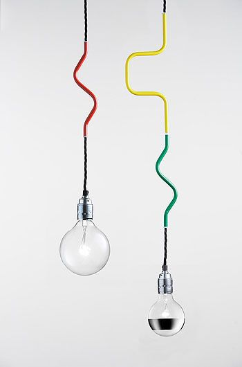 Cable Jewellery by Volker Haug: I love these lamps -- the detail in both the cable and the bulb selection is fantastic.