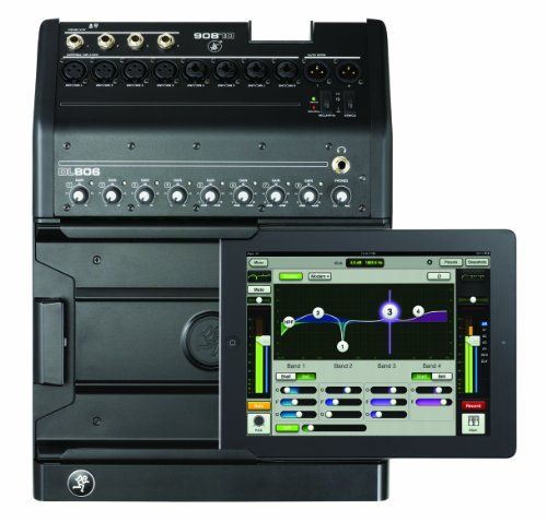 Mackie DL DL806 8-Channel Digital Live Sound Mixer with Apple Lightning Connector. 8 Onyx mic preamps Choice of powerful, touch-sensitive plug-ins. Seamless wired to wireless mixing Intuitive Master Fader app for all iPad models1. Includes Apple Lightning connector. FREE DELIVERY $921.99 BUY NOW