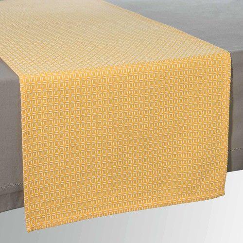 Runner da tavolo giallo in cotone 45x150cm VERNA