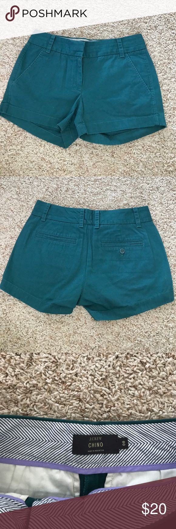 Teal J. Crew size 00 chino shorts Teal J. Crew size 00 chino shorts J. Crew Shorts