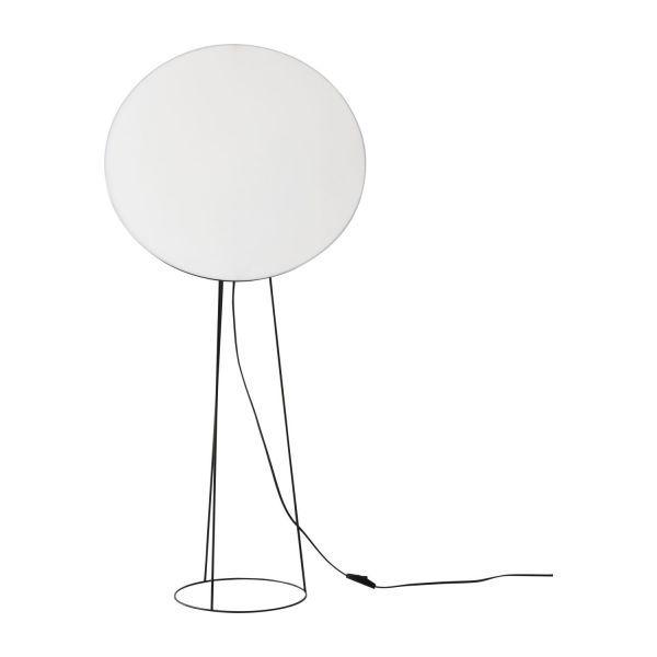 Black standard lamp