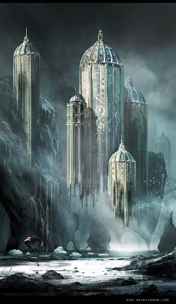 Digital art selected for the Daily Inspiration #1494 elf elven castle fortress city | NOT OUR ART - Please click artwork for source | WRITING INSPIRATION for Dungeons and Dragons DND Pathfinder PFRPG Warhammer 40k Star Wars Shadowrun Call of Cthulhu and other d20 roleplaying fantasy science fiction scifi horror location equipment monster character game design | Create your own RPG Books w/ www.rpgbard.com
