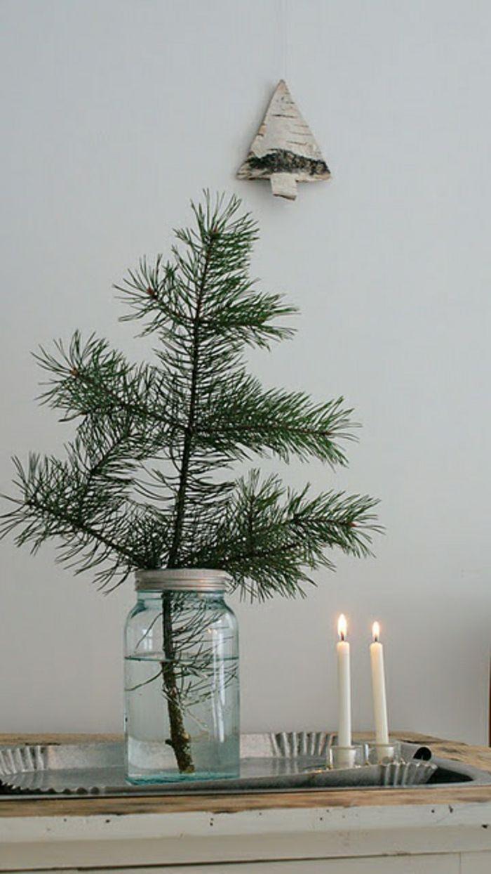 sapin de noel decoration avec bougies