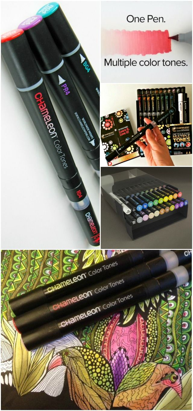 The Chameleon Marker pen goes from a hint of a tint to rich tones with no tonal gaps in between. One pen produces dozens of tones. Do more with less!