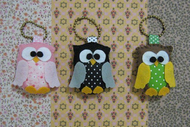 Cute stuffed owls