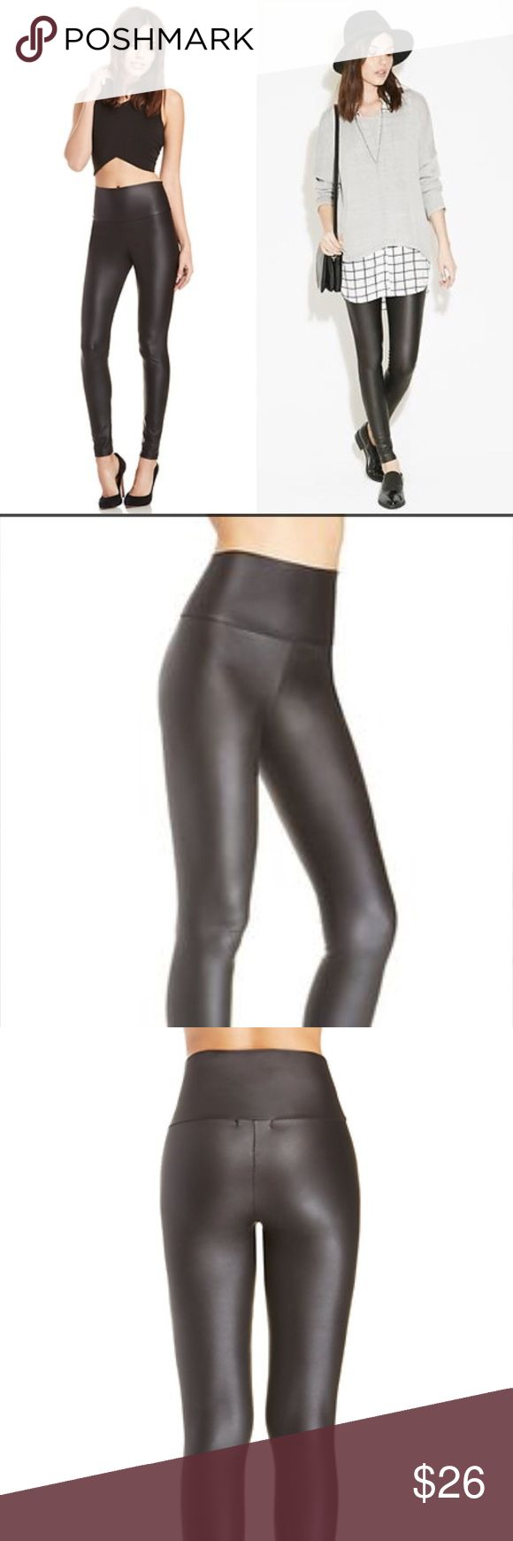 NWT Faux Leather Leggings Purchased from Daily Look, still on the site for $40! These never worn NWT faux leather leggings get really great reviews on the Daily Look site! Sadly they are too long for me and I missed the window to return. My loss is your gain! Size L. Daily Look Pants Leggings