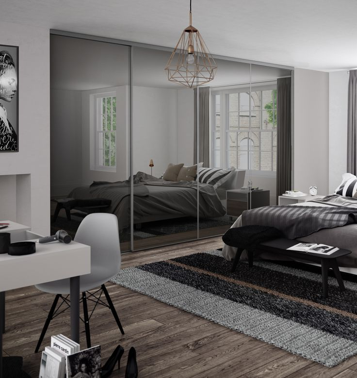 Black And White Contemporary Bedroom Ideas Colors Of Bedroom Bedroom Furniture Sets India Bedroom Almirah Image: Best 25+ Sliding Mirror Wardrobe Ideas On Pinterest