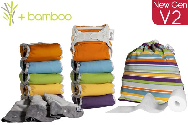 Pop-in new gen V2 Middle Box Bamboo Bright nappies