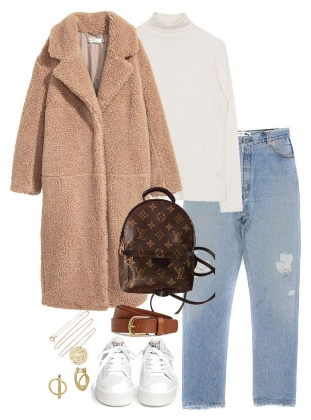 """""""Untitled #5407"""" by theeuropeancloset on Polyvore featuring H&M, Ash, Louis Vuitton, Pascale Monvoisin and Lucky Brand"""