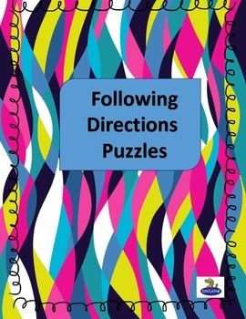 following directions puzzles fun test prep pinterest student quotes about life and words. Black Bedroom Furniture Sets. Home Design Ideas