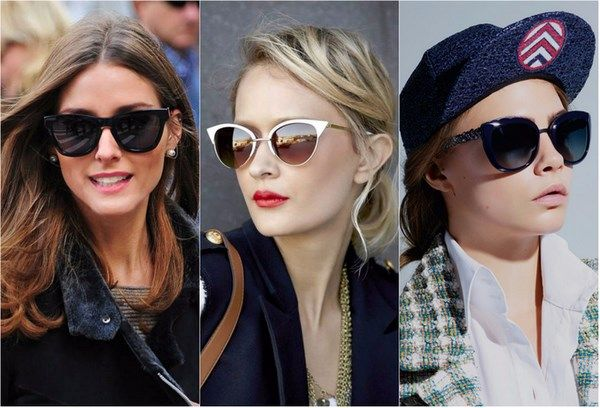 Лучшие солнцезащитные очки 2017-2018: фото, тренды, формы солнцезащитных очков. Модные женские солнцезащитные очки: круглые солнцезащитные очки, авиаторы, кошачий глаз, зеркальные стекла, омбре.