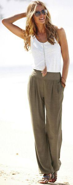 current women's fashion baggy pants - Recherche Google
