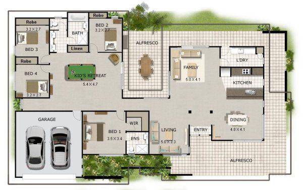 Floor Plan Friday Corner Block In 2020 Colonial House Plans Single Storey House Plans House Plans Australia