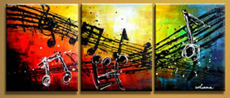 Multiple canvas painting music