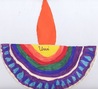 Diwali Paper Lamp Craft For Kids